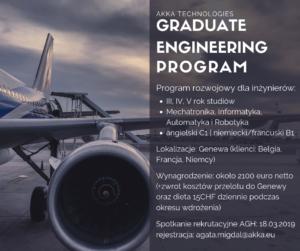 AKKA Technologies - program rozwojowy Graduate Engineering Program
