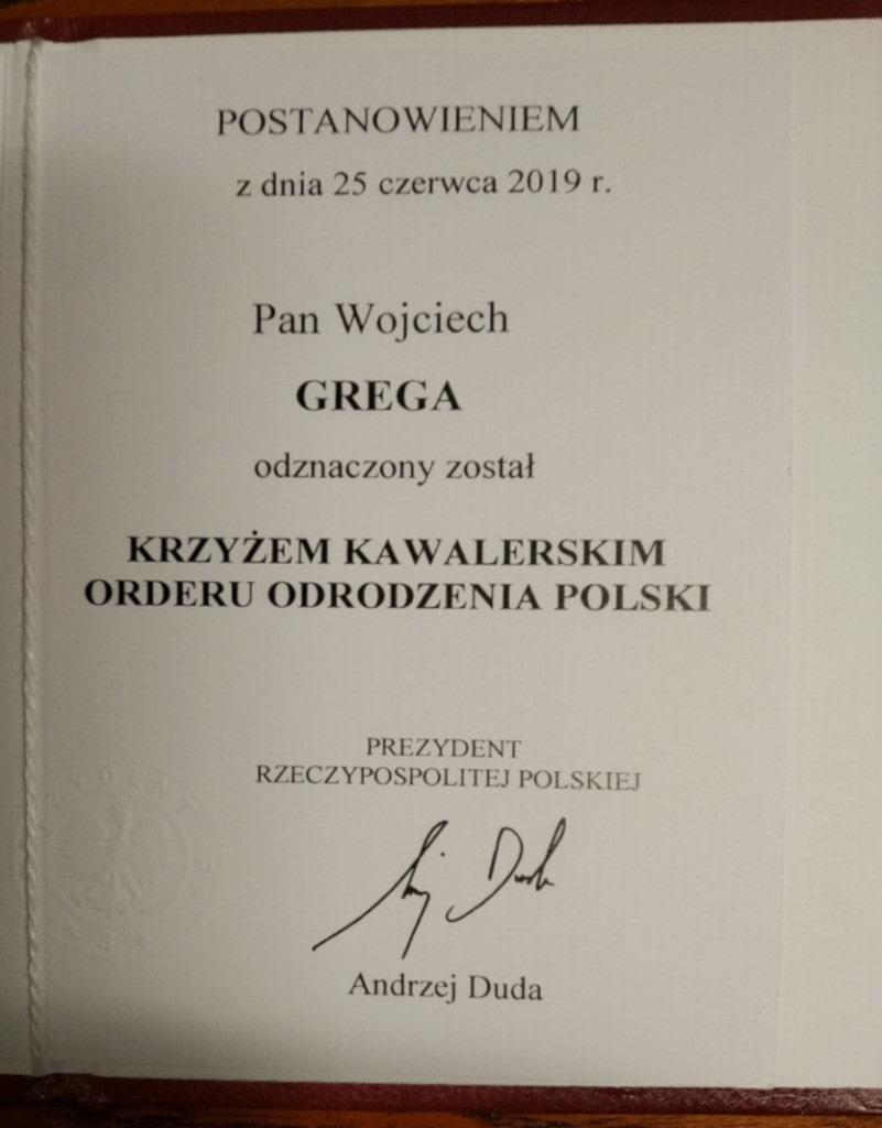 Grega Wojciech Order-min