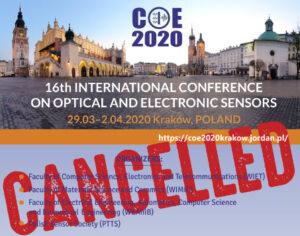 Konferencja COE2020 – odwołana