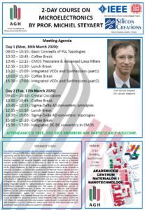 Szkolenie z Mikroelektroniki, prof. M. Steyaert, 16-17 marca 2020