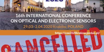 Konferencja CIE 2020 odwołana